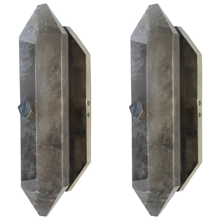 SDF Rock Crystal Quartz Sconces By Phoenix
