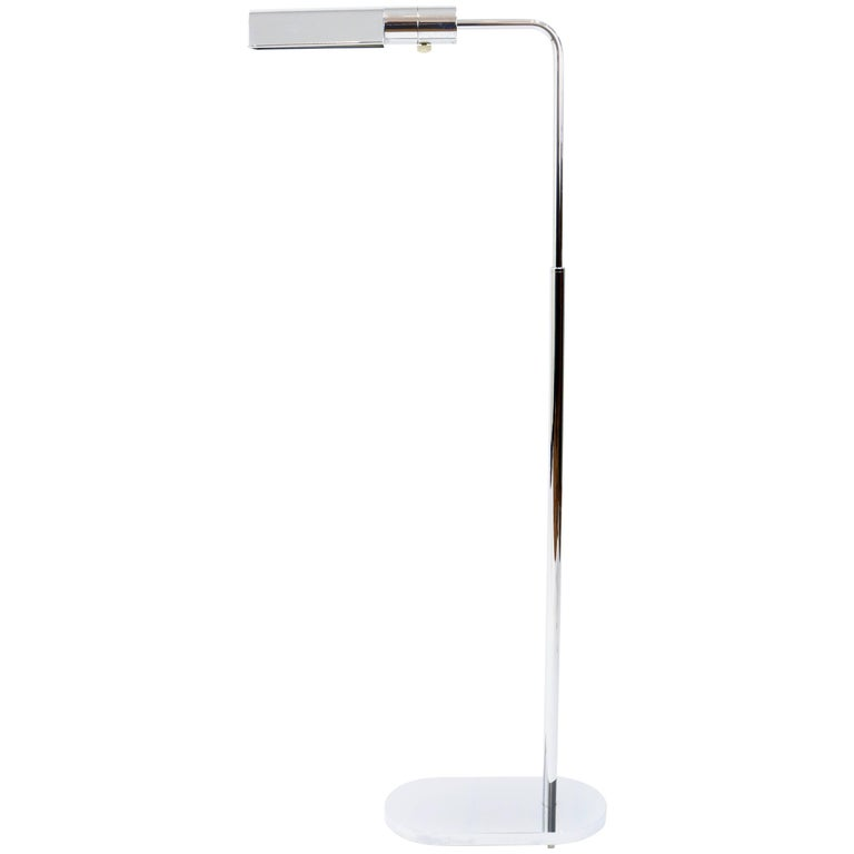 Adjustable Polished Chrome Floor Lamp by Casella