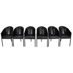 Set of Six Costes Chairs by Philippe Starck for Driade