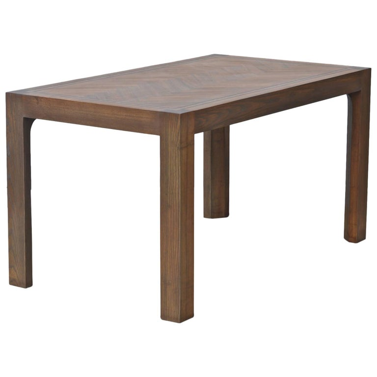 Parsons Style Dining Table of Oak