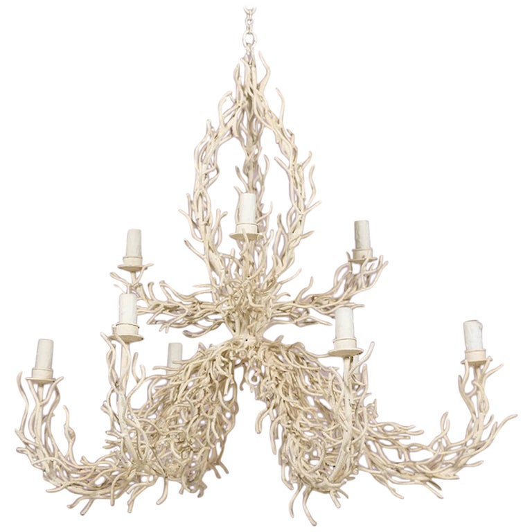 Monumental Faux Coral Chandelier