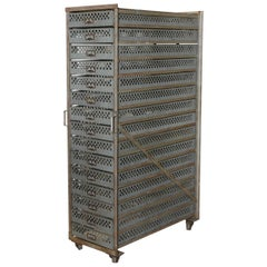 Vintage Industrial Storage Unit, 2available