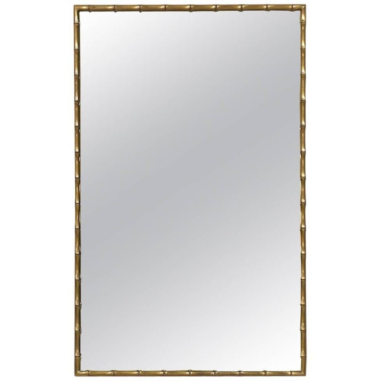 Mastercraft Faux Bamboo Mirror