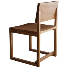 SQ1 Dining Chair, White Oak Hardwood Side Chair