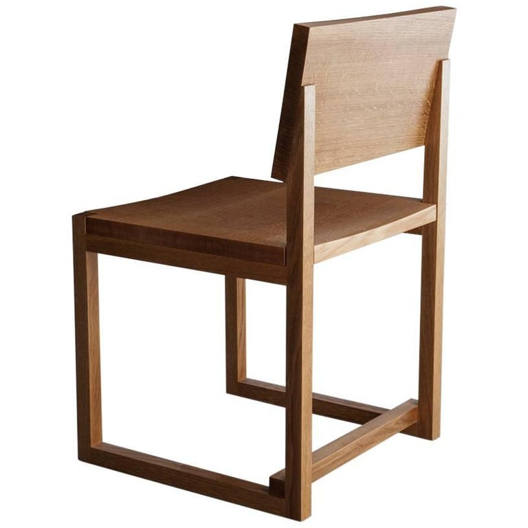 SQ Dining Chair, White Oak Hardwood Side Chair For Sale