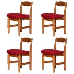 """Set of Four Chairs """"Votre Maison"""" by Guillerme et Chambron, France, circa 1965"""