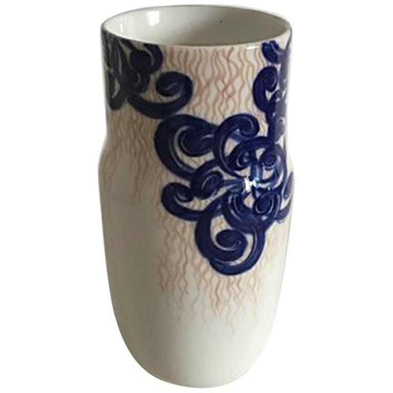 Royal Copenhagen Unique Vase by Svend Hammershøj from 1895 For Sale