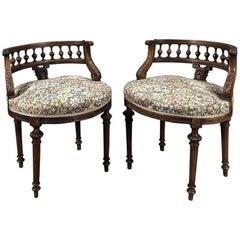 Pair of 19th Century French Louis XVI Vanity Stools