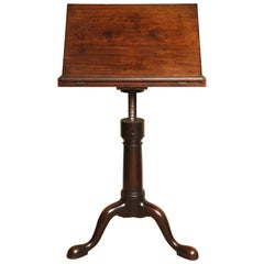 George II Solid Mahogany Fully Adjustable Dictionary Stand, English circa 1740