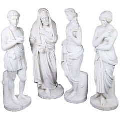 Set of Four Italian neoclassical  Marble Statues of the Four Seasons