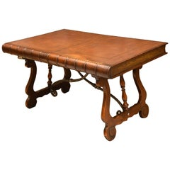 Trompe L'oeil Leather Book Writing Table or Console