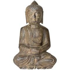 Large Basalt Stone Buddha Statue