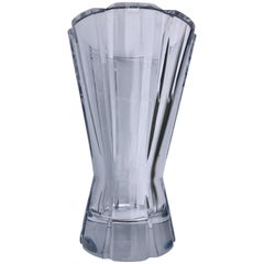 "Christofle Cut Crystal Tall Vase Model ""Djambe"""