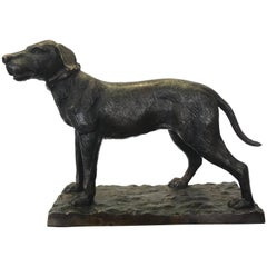 Bronze Figure of a Hound Dog