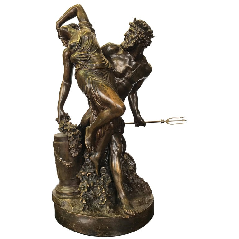 'Abduction of Persephone' French Bronze after Clodion