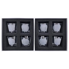 Christian Dior Set of Eight Tumbler or Double Old Fashioned Whisky Glasses