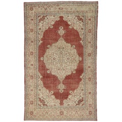 Rustic Style Distressed Turkish Sivas Area Rug