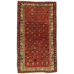 Vintage Turkish Oushak Accent Rug with Modern Craftsman Style