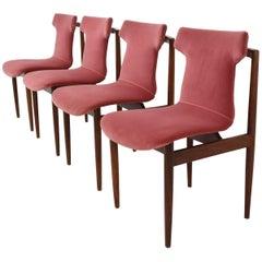 Set of Four Inger Klingenberg IK Dining Chairs Fristho Franeker, 1960