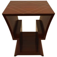 Unique Art Deco Coffee Table with Decorative Inlay, Attributed to Eugene Printz