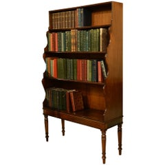 George III Mahogany Waterfall Bookcase