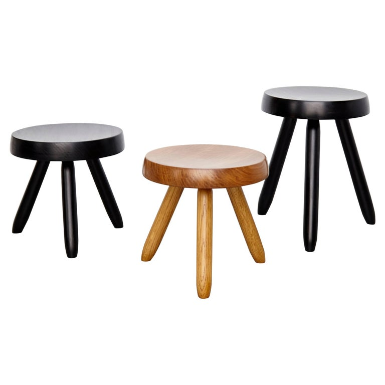 Set of Three Stools in the Style of Charlotte Perriand