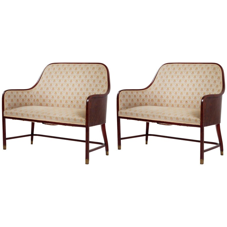 Pair of Original Josef Hoffmann & J. & J. Kohn  Benches Vienna Secession 1901 For Sale