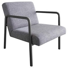 Berm Lounge Chair, Powder Coated Steel, Felt, Boucle, or COM COL Upholstery