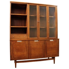 Mid-Century Modern American of Martinsville Walnut China Cabinet