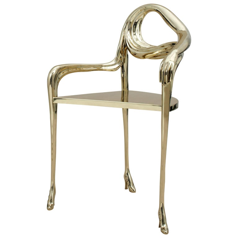salvador dali armchair invisible personage for sale at 1stdibs. Black Bedroom Furniture Sets. Home Design Ideas