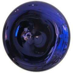 Large Convex and Concave Midnight Blue Mirror by Christophe Gaignon
