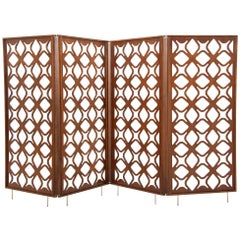 São Cristóvão Brazilian Contemporary Wood Laminate Folding Screen by Lattoog