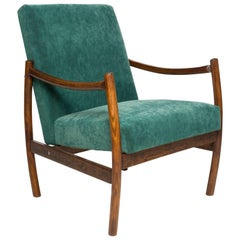 Club Armchair, Dark Green Velvet, 1960s