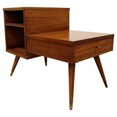 Mid-Century Modern American of Martinsville Two-Tiered Walnut End Table