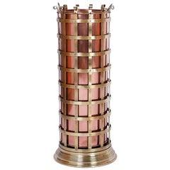 Copper and Brass Umbrella or Cane Stand
