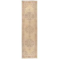 Antique Turkish Shabby Chic Sivas Rug Runner