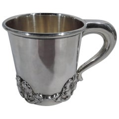 Antique American Art Nouveau Sterling Silver Baby Cup