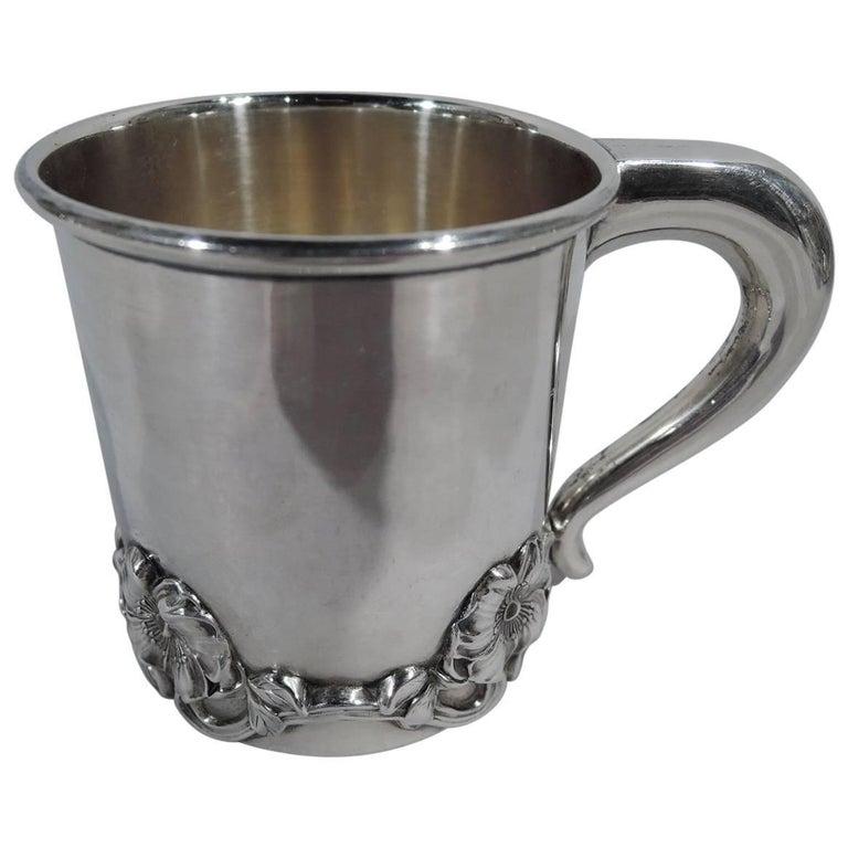 Antique American Art Nouveau Sterling Silver Baby Cup