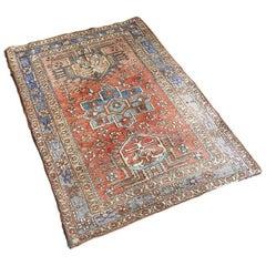 Antique Handwoven Persian Heriz Carpet, 1920s
