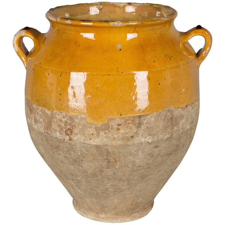 French Terracotta Confit Pot For Sale