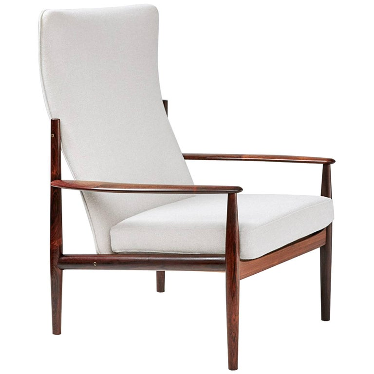 Grete Jalk High Back Rosewood Lounge Chair