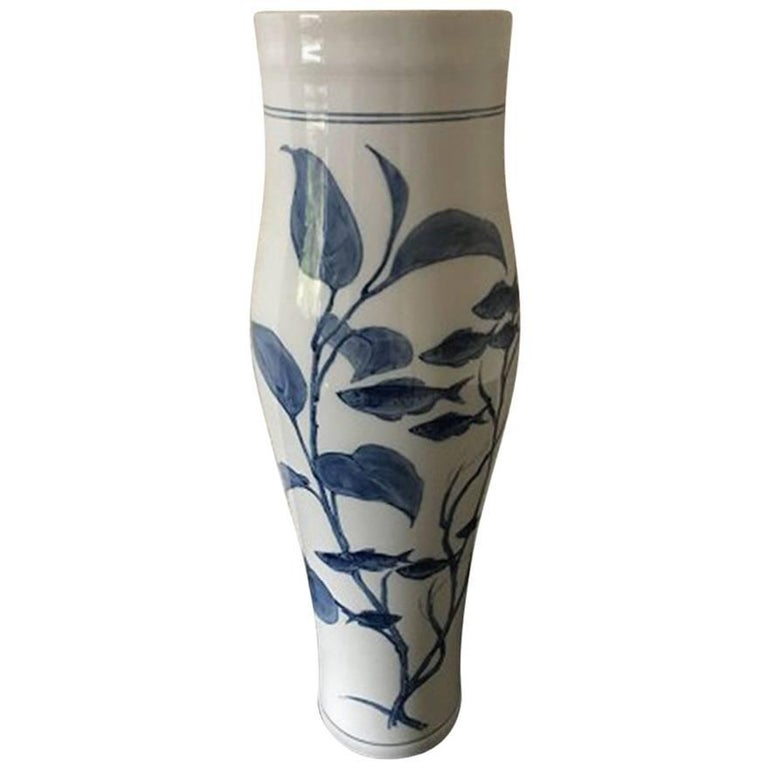 Royal Copenhagen Unique Vase From 1896 With Iris For Sale At 1stdibs