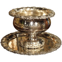 Silver Plated Punch Bowl and Tray, circa 1900
