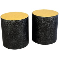Gilded Drum Tables ( Pair )