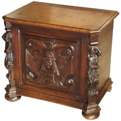 19th Century Carved Oak Renaissance Style Trunk from France