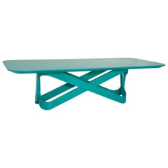 Loop Brazilian Contemporary Lacquered Dining Table by Lattoog