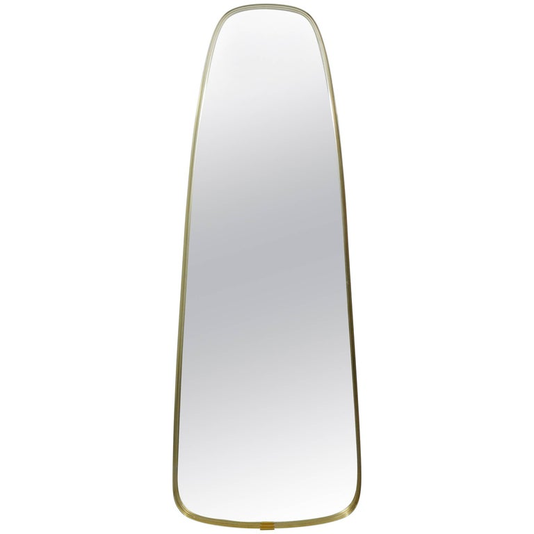 Midcentury Modern Hollywood Regency La Barge Oval Wall Mirror, 1960s
