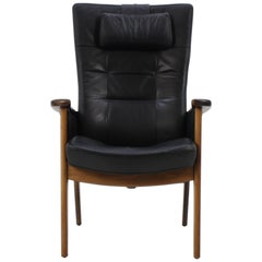 Mid-Century Modern Leather Armchair Farstrup from Denmark, 1990s
