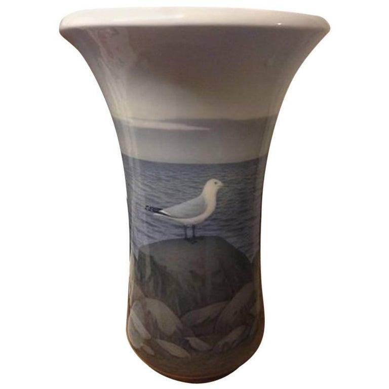 Royal Copenhagen Unique Art Nouveau Vase by Stephan Ussing from 1914 For Sale