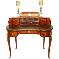 Fine French 19th Century Louis XV Style Tulipwood and Ormolu-Mounted Ladies Desk